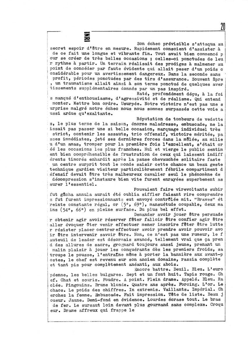 page 0020 Y. Le Guen INDI-INRI Coeur et Plan