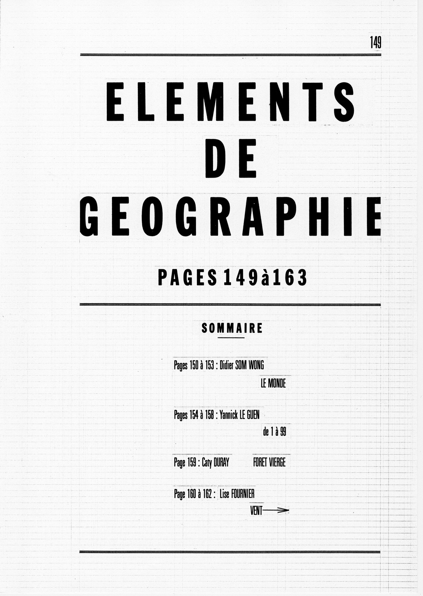 page 0149 ELEMENTS DE GEOGRAPHIE Sommaire