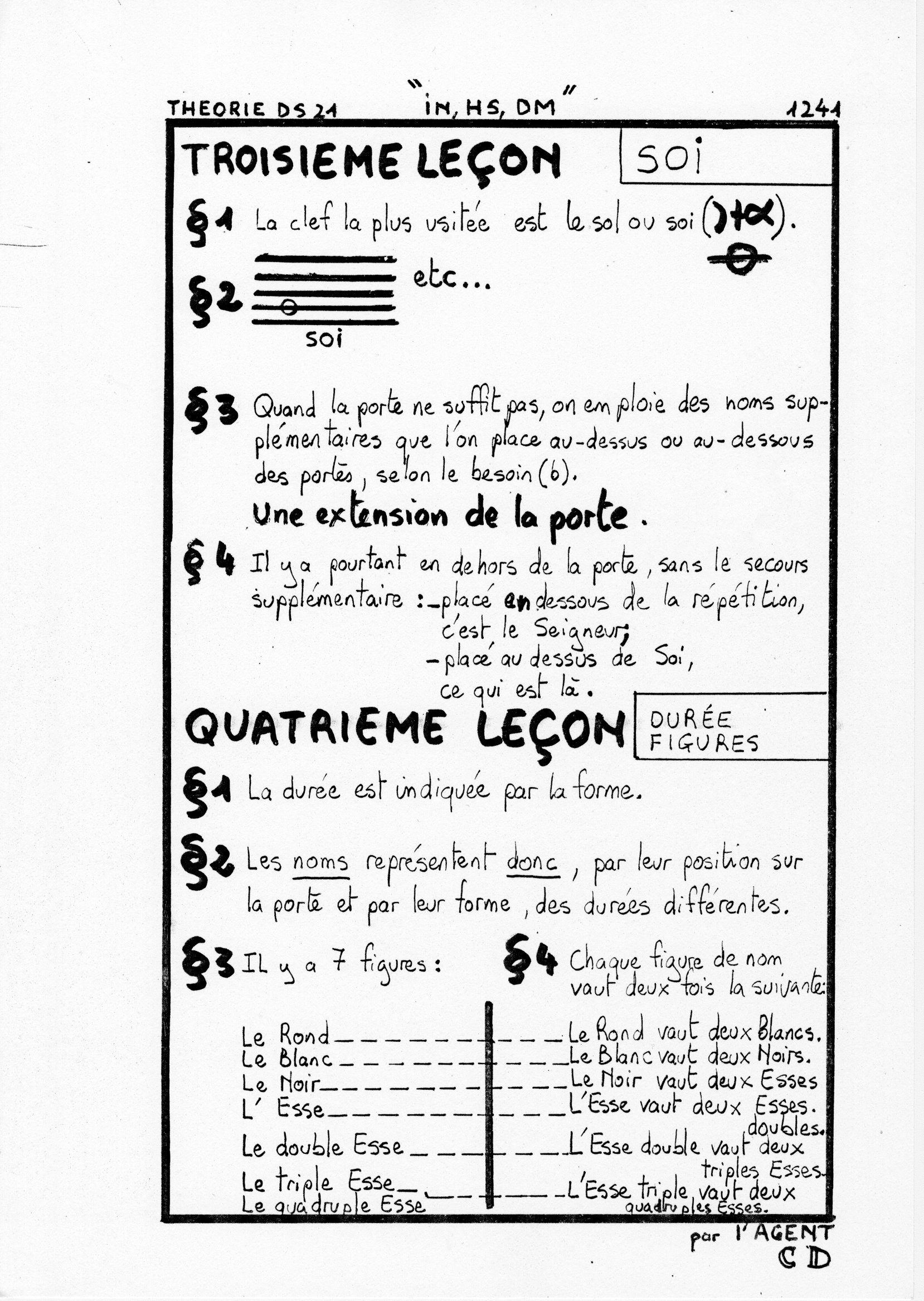 page 1241 Théorie D.S. 21 IN, HS, DM