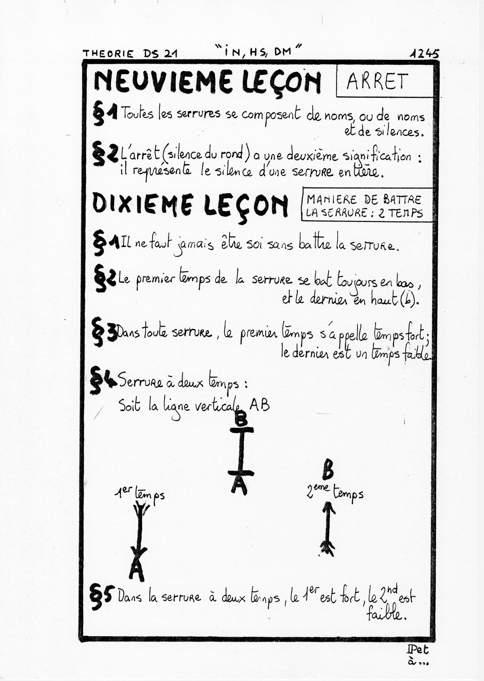 page 1245 Théorie D.S. 21 IN, HS, DM