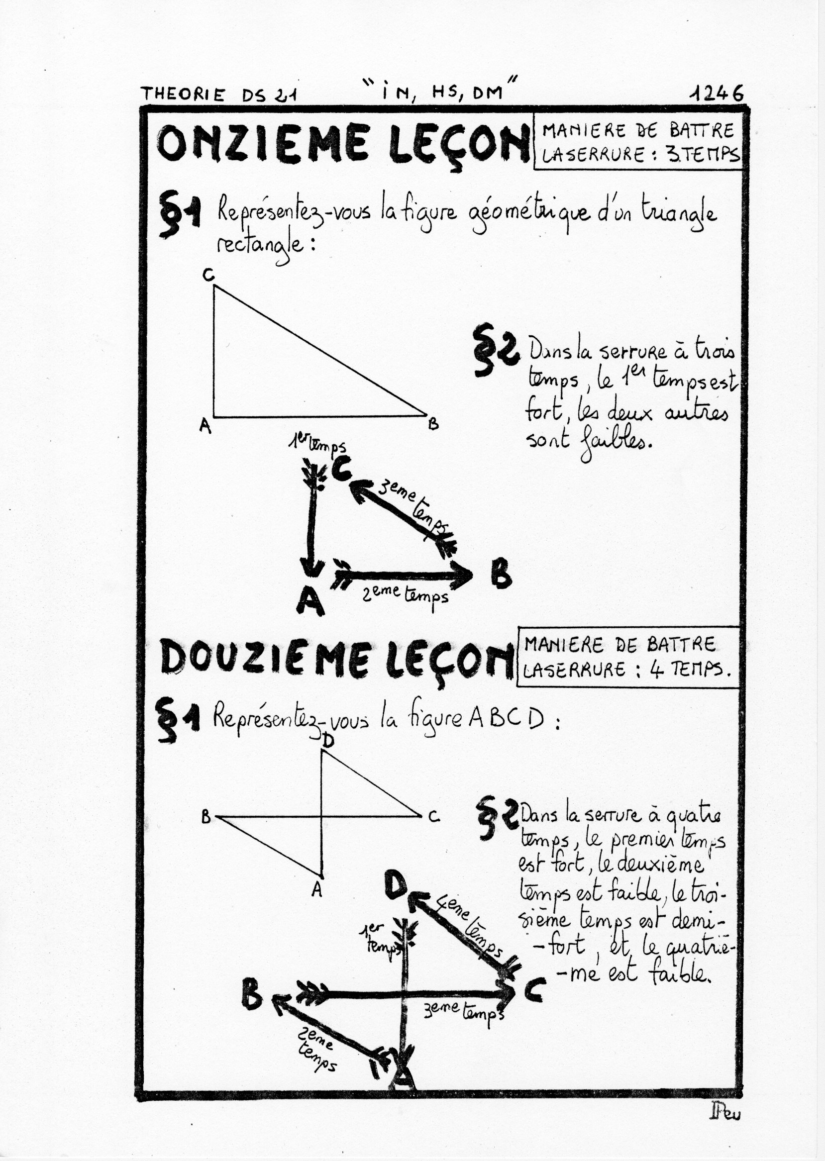 page 1246 Théorie D.S. 21 IN, HS, DM
