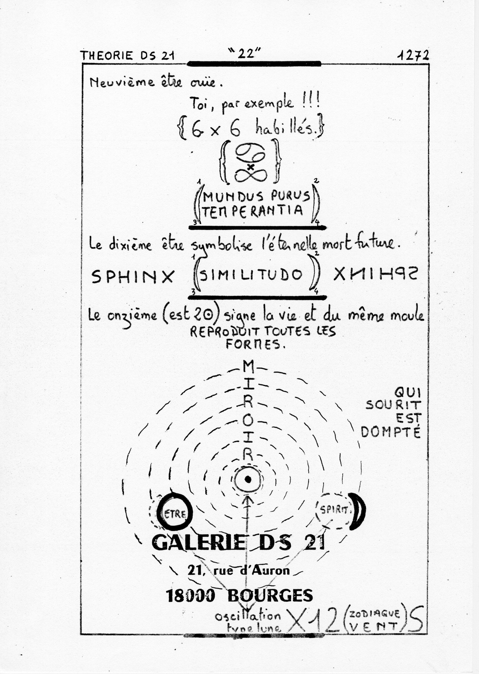 page 1272 Théorie D.S. 21 22