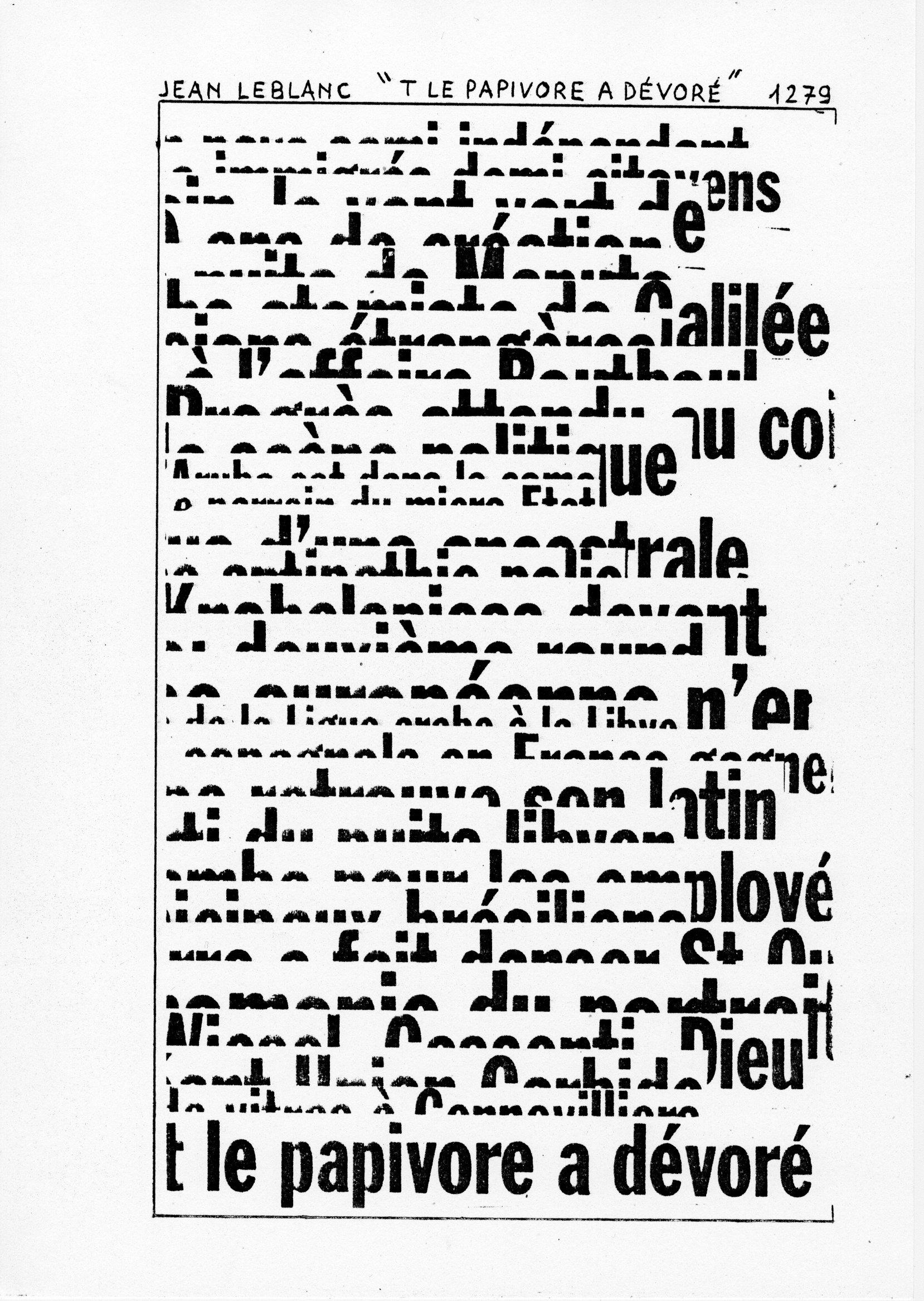 page 1279 J. Leblanc T LE PAPIVORE A DEVORE