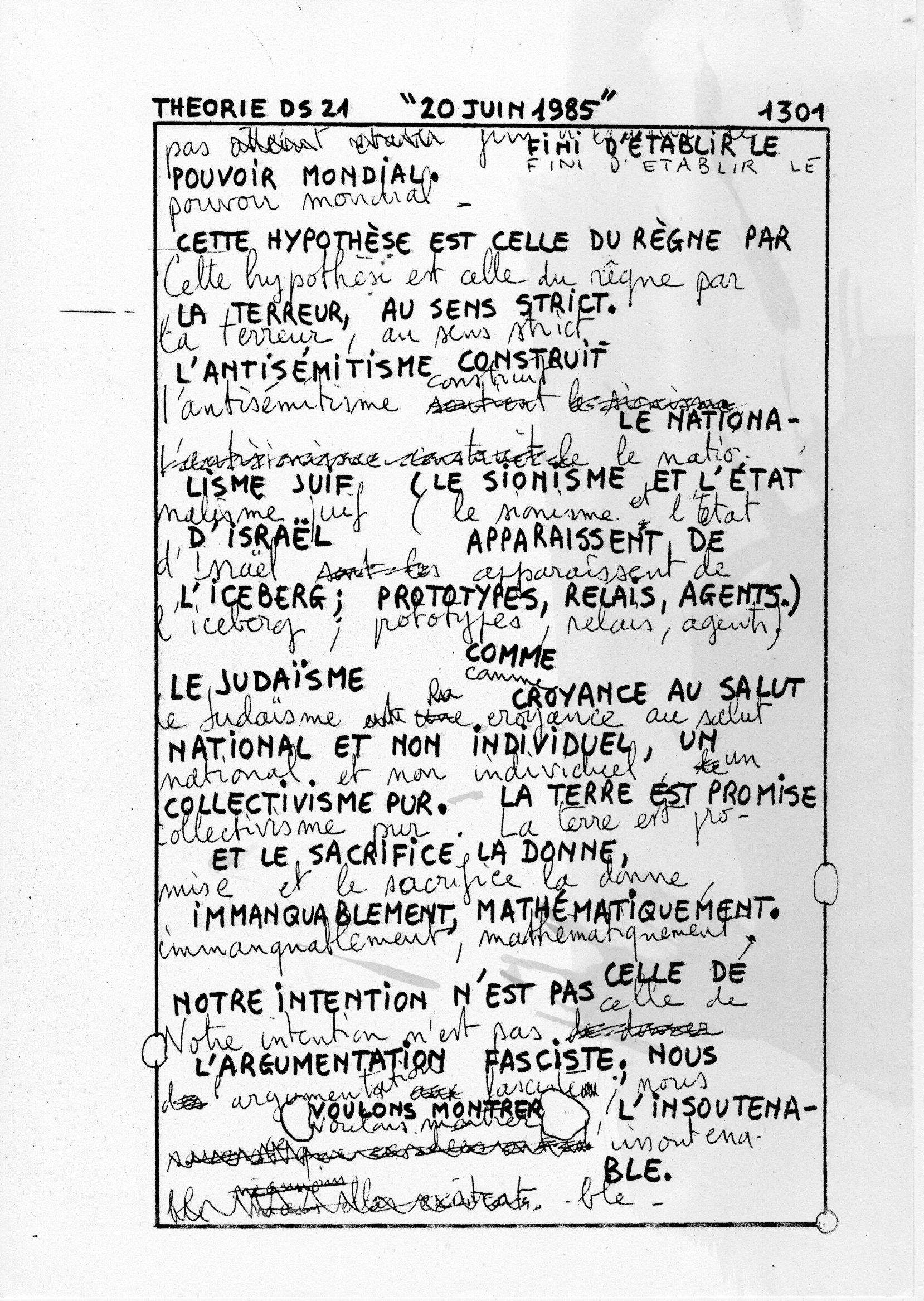 page 1301 Théorie D.S. 21 20 JUIN 1985