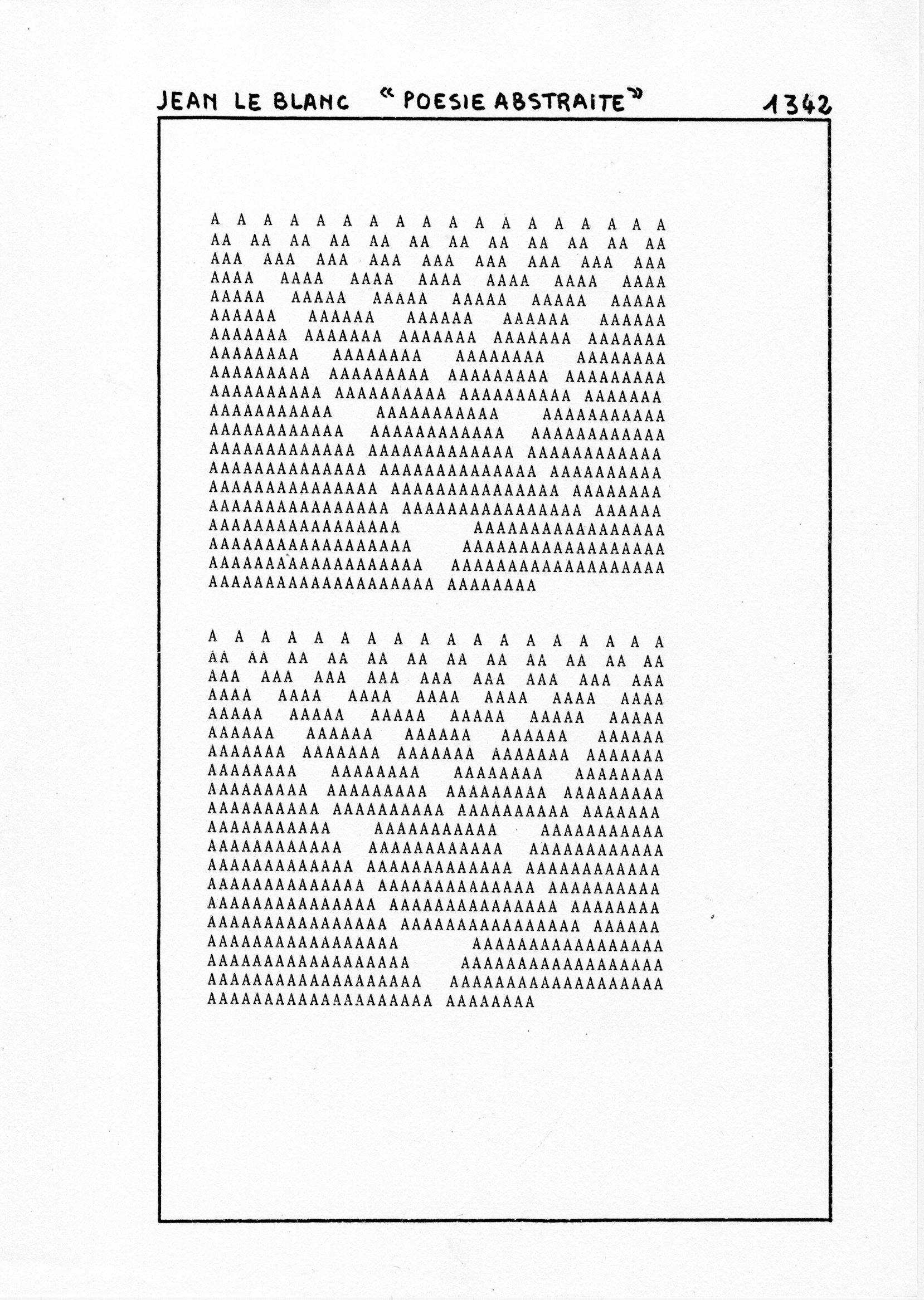 page 1342 Jean Le Blanc POESIE ABSTRAITE