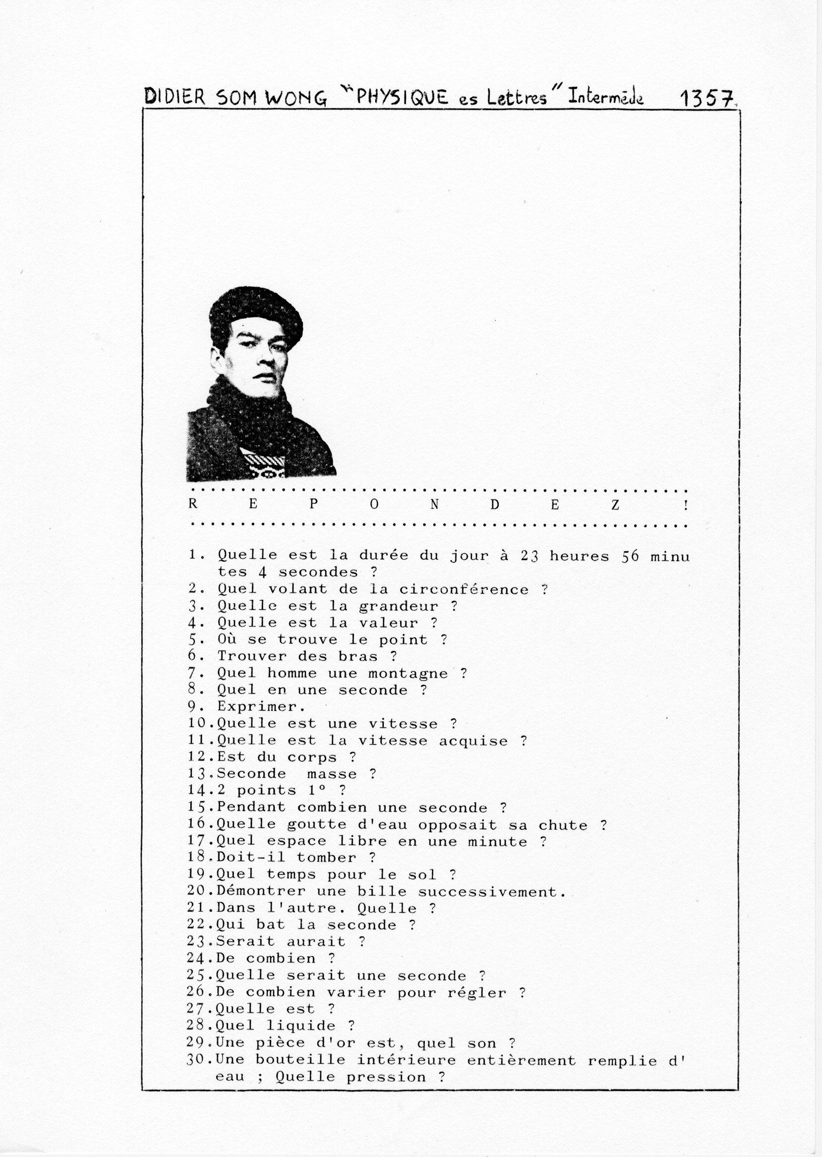 page 1357 D. Som Wong PHYSIQUE Es Lettres -Intermède-