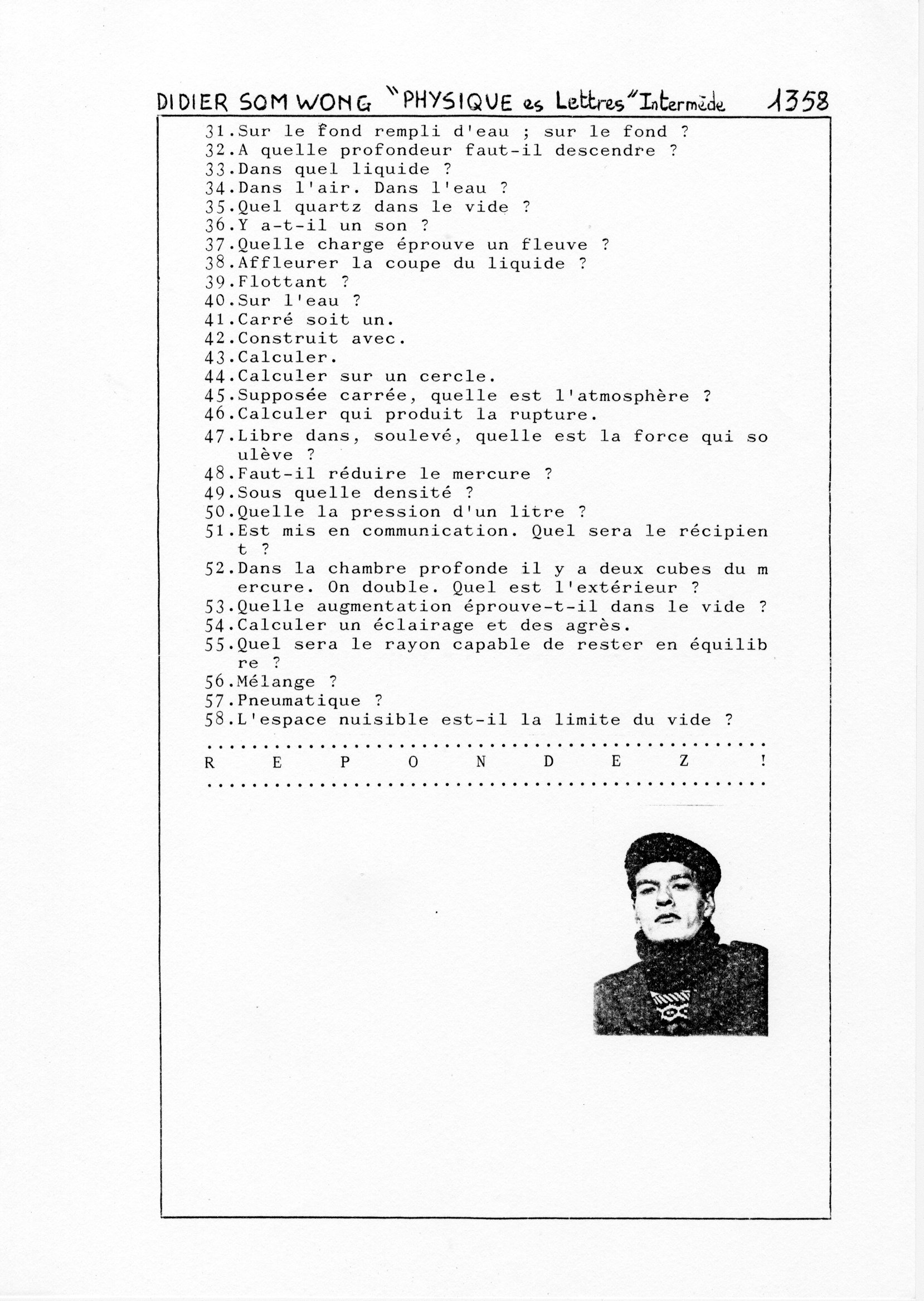 page 1358 D. Som Wong PHYSIQUE Es Lettres -Intermède-