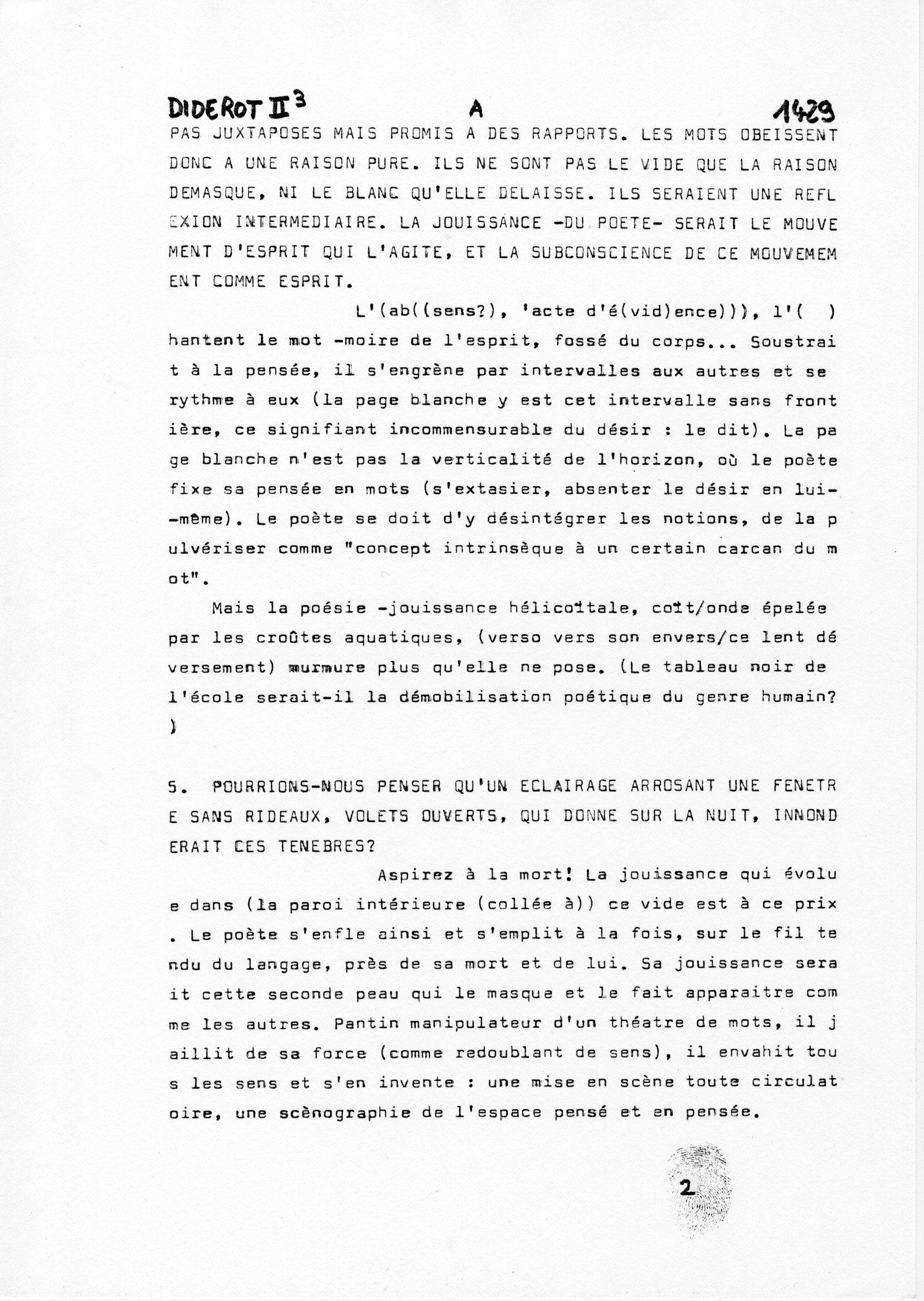 page 1429 Diderot II p3 JOUISSANCE ET POESIE