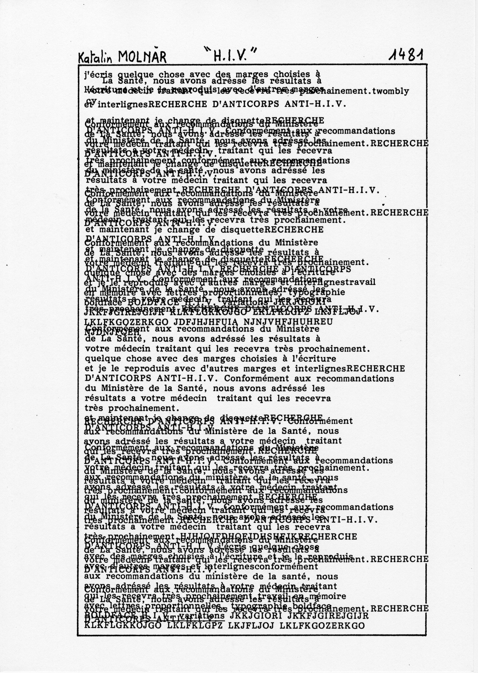page 1481 K. Molnar H.I.V.