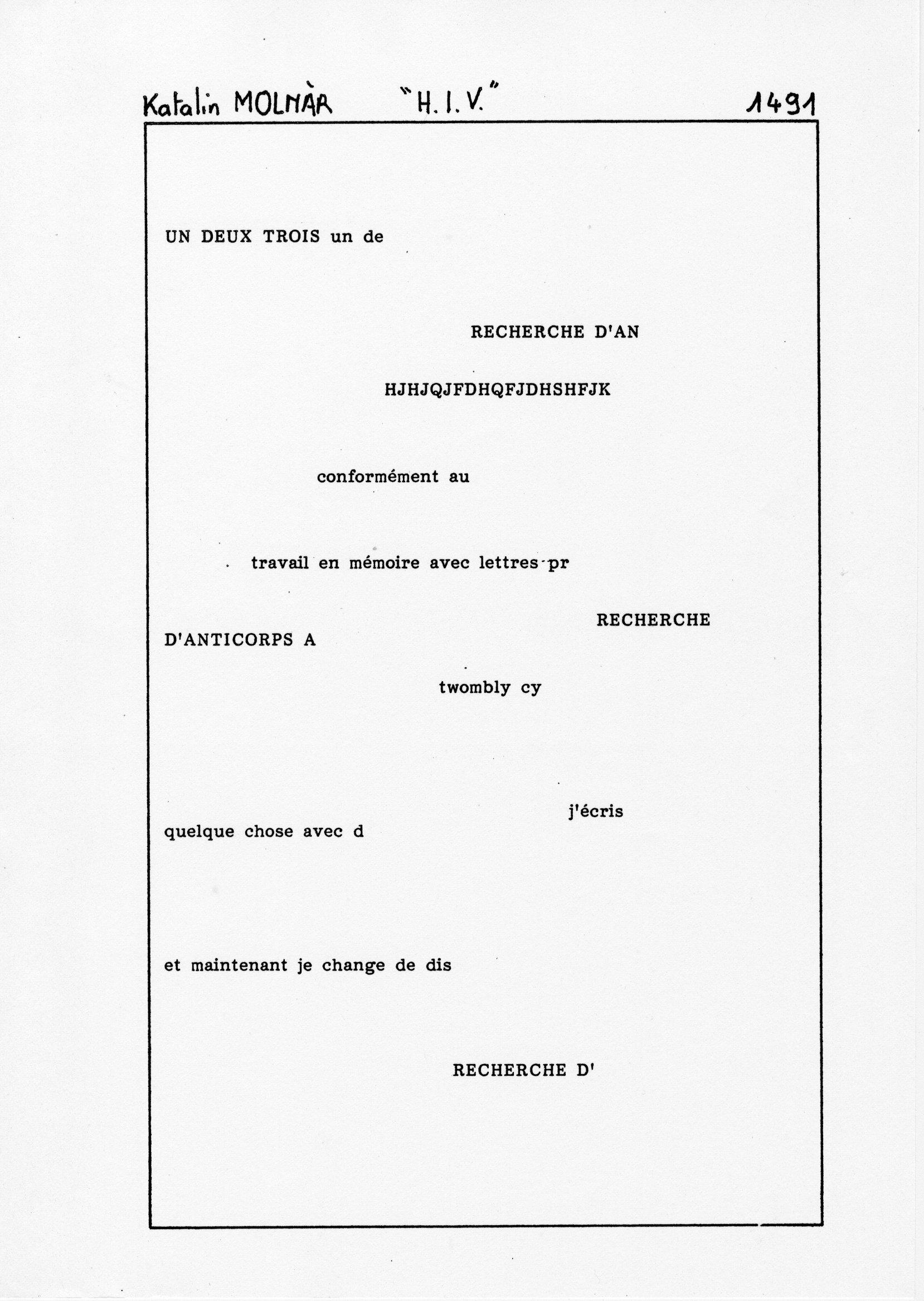 page 1491 K. Molnar H.I.V.
