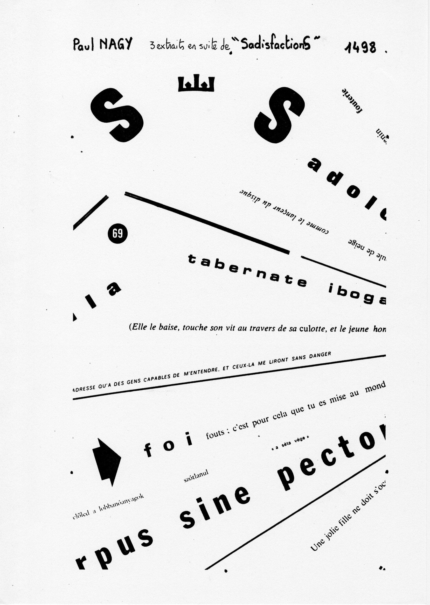 page 1498 P. Nagy 3 extraits en suite de SadisfactionS