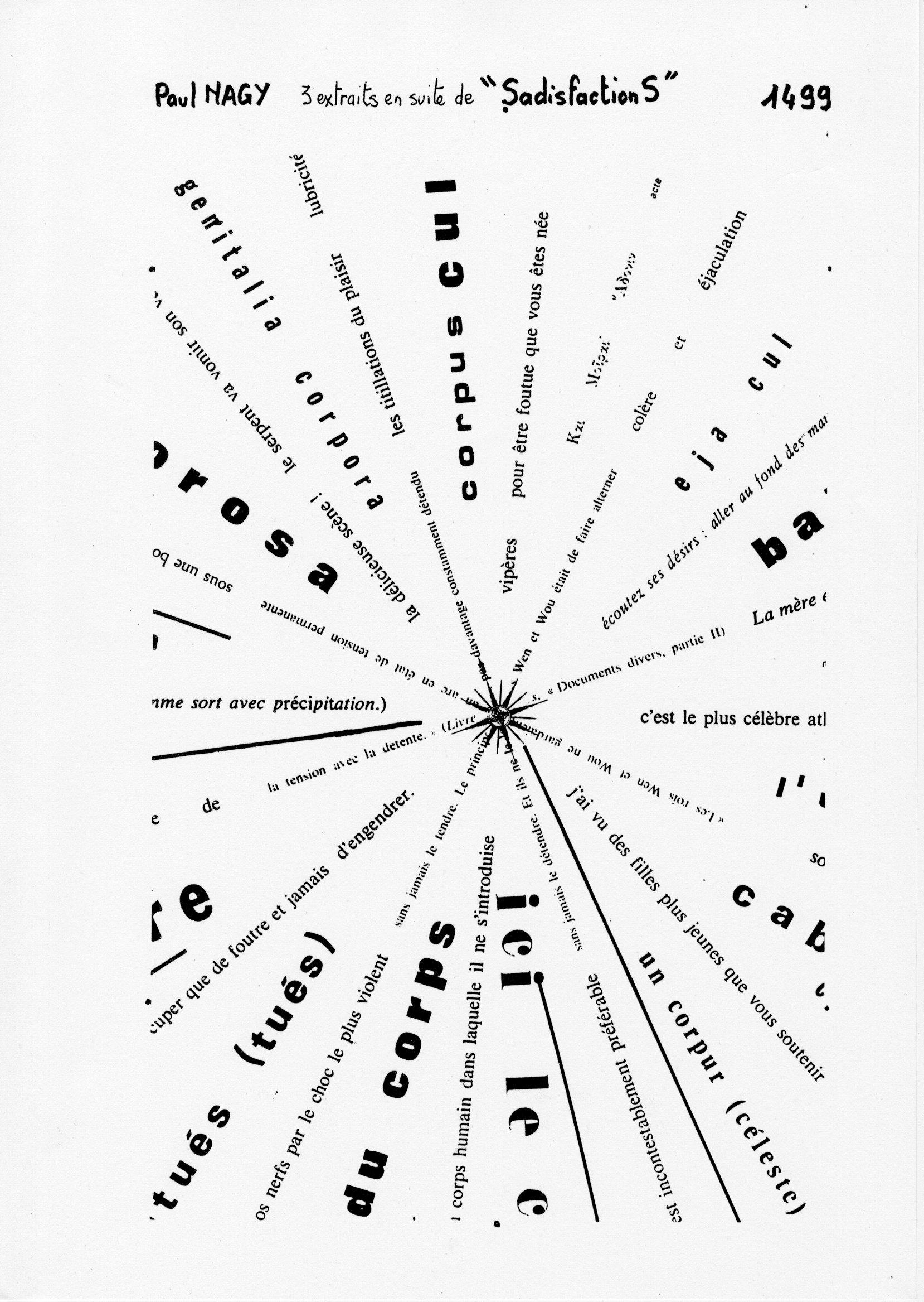 page 1499 P. Nagy 3 extraits en suite de SadisfactionS