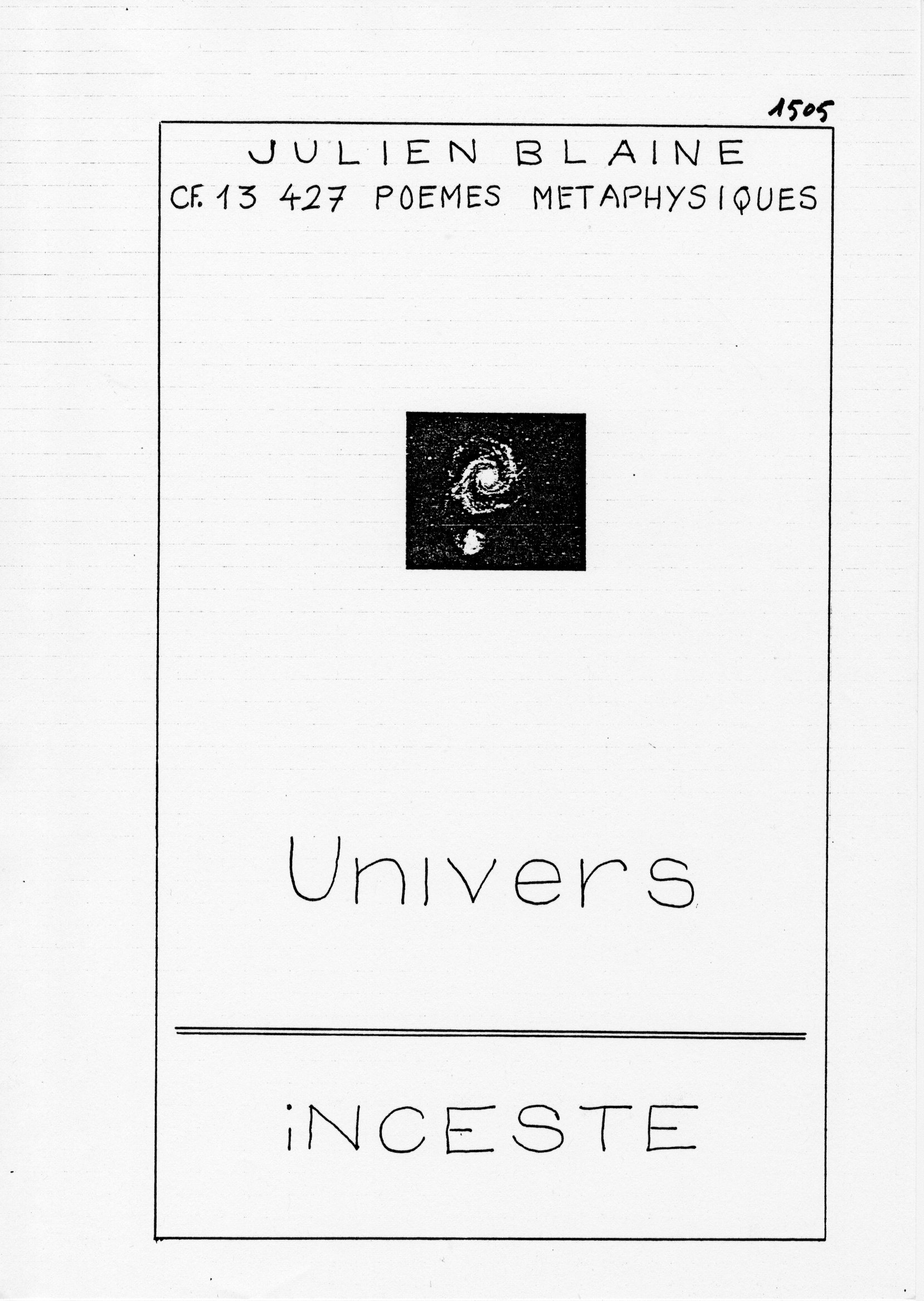 page 1505 J. Blaine UNIVERS INCESTE