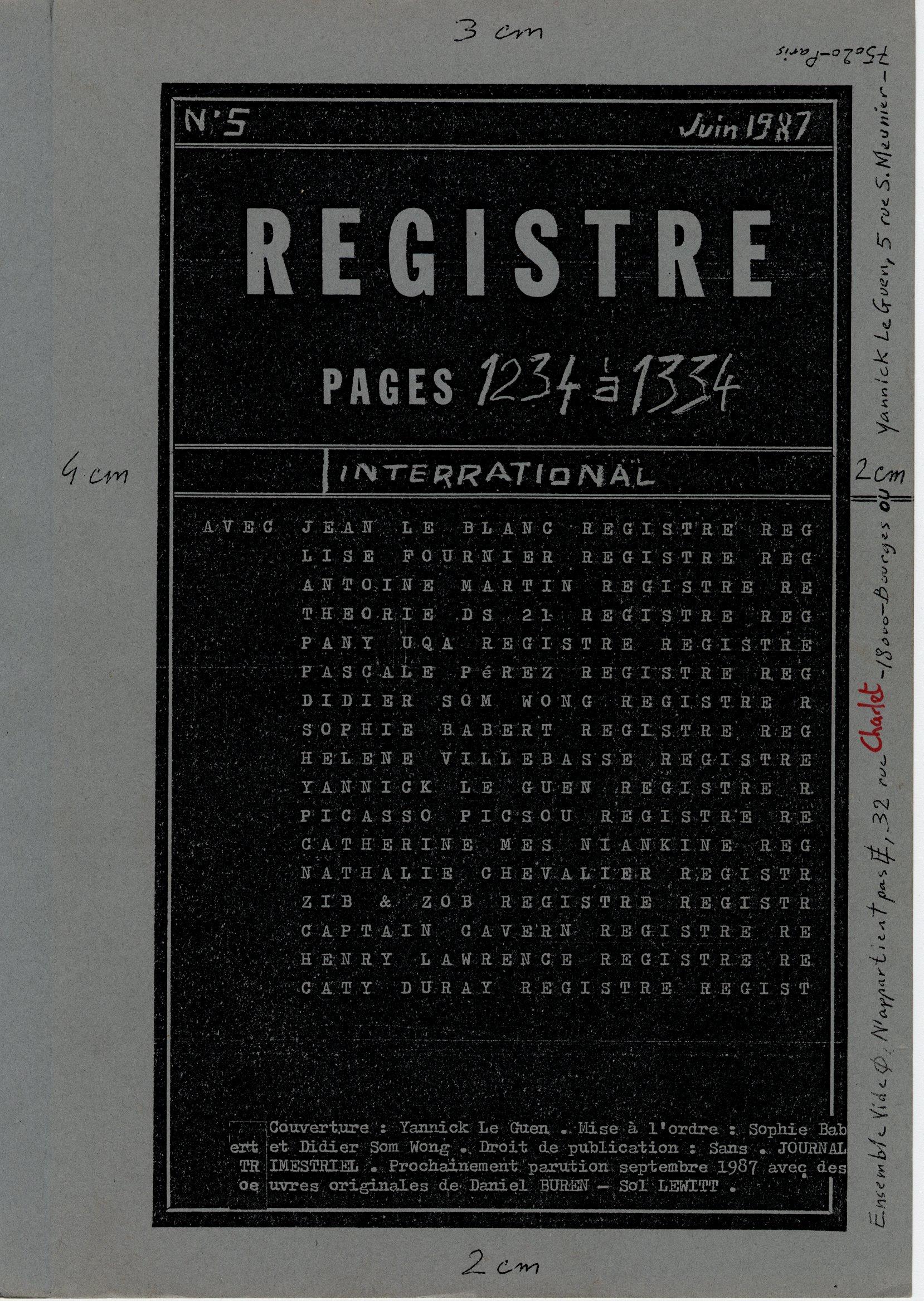 page 1234a la une