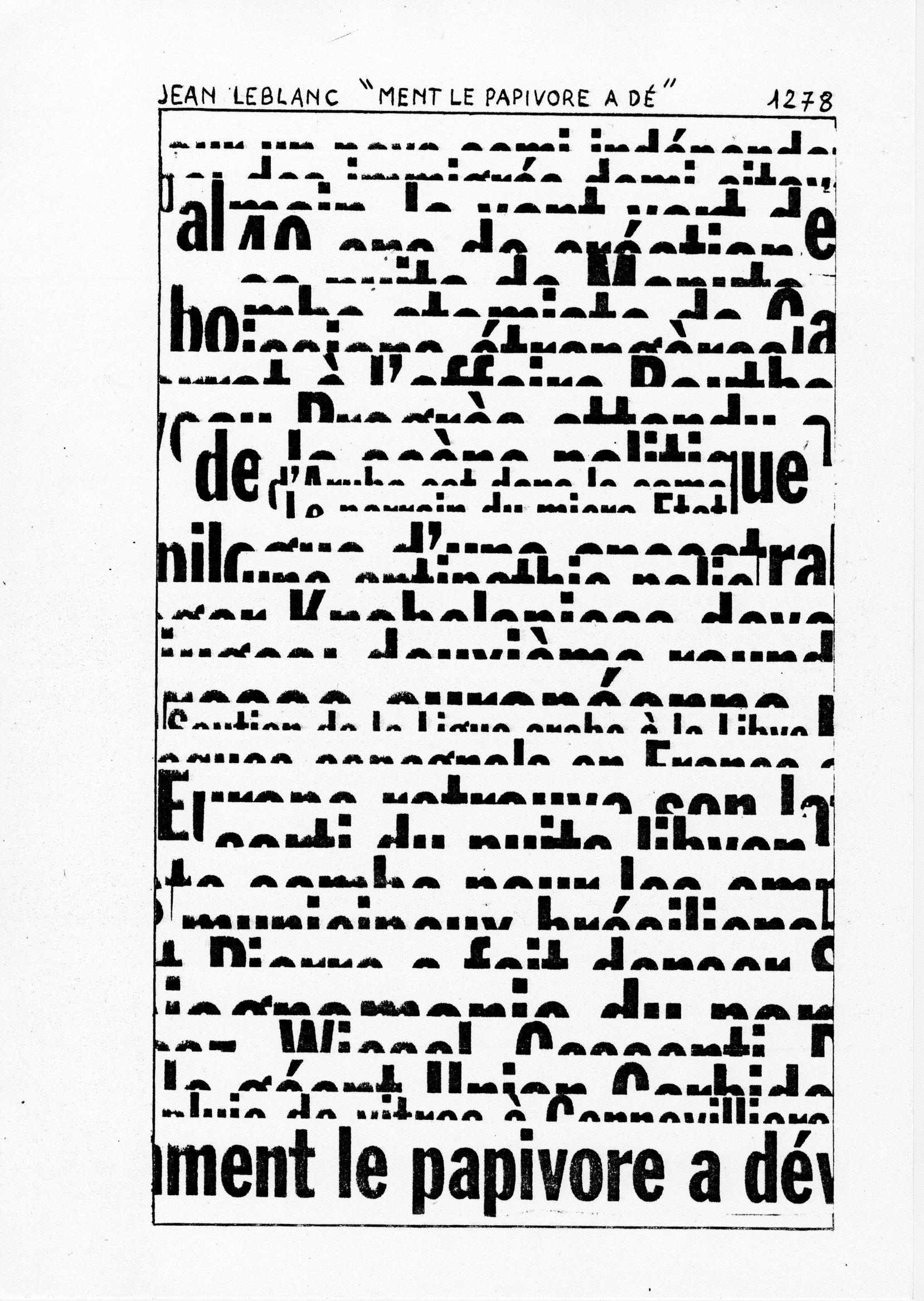 page 1278 J. Leblanc MENT LE PAPIVORE A DE