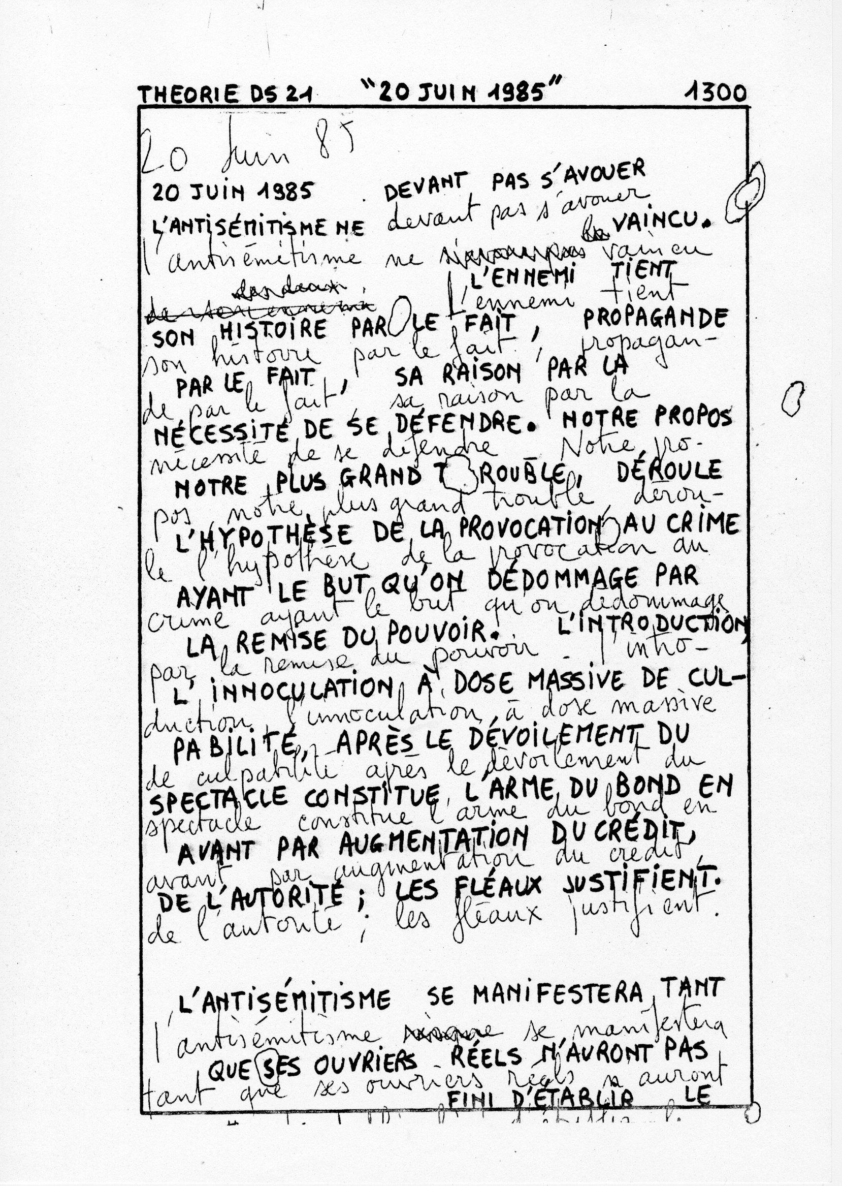 page 1300 Théorie D.S. 21 20 JUIN 1985