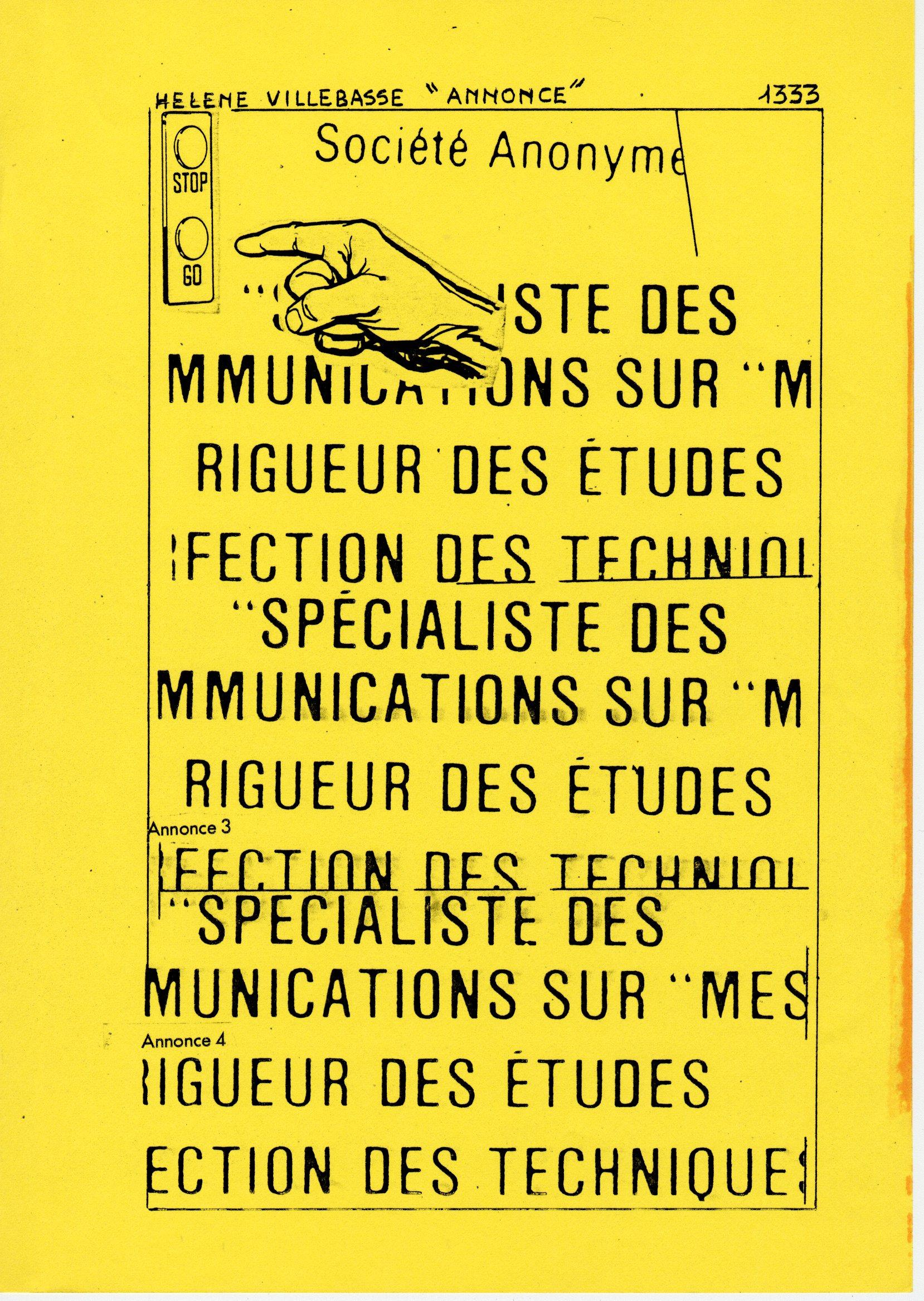 page 1333 H. Villebasse ANNONCE