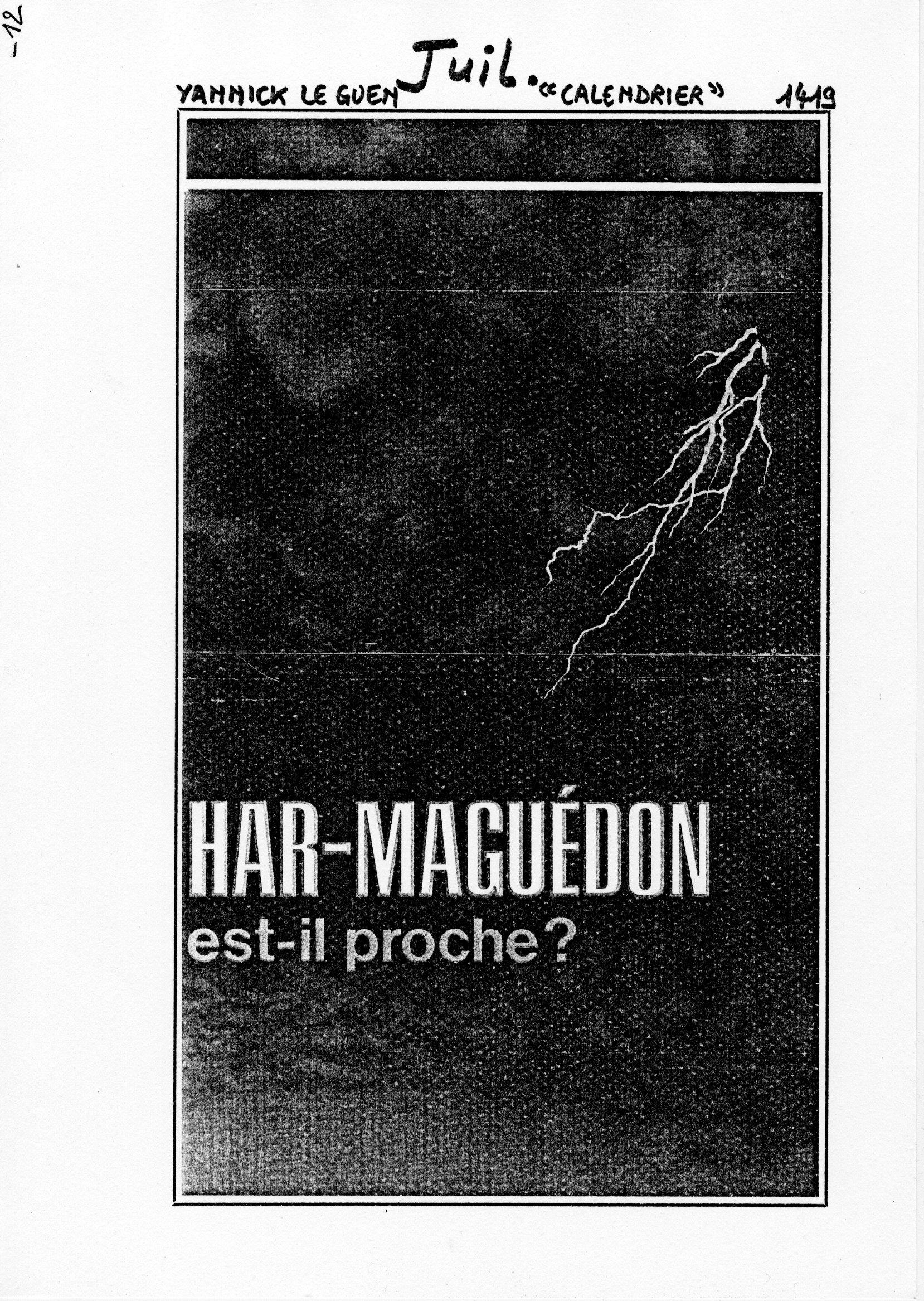page 1419 Y. Leguen CALENDRIER