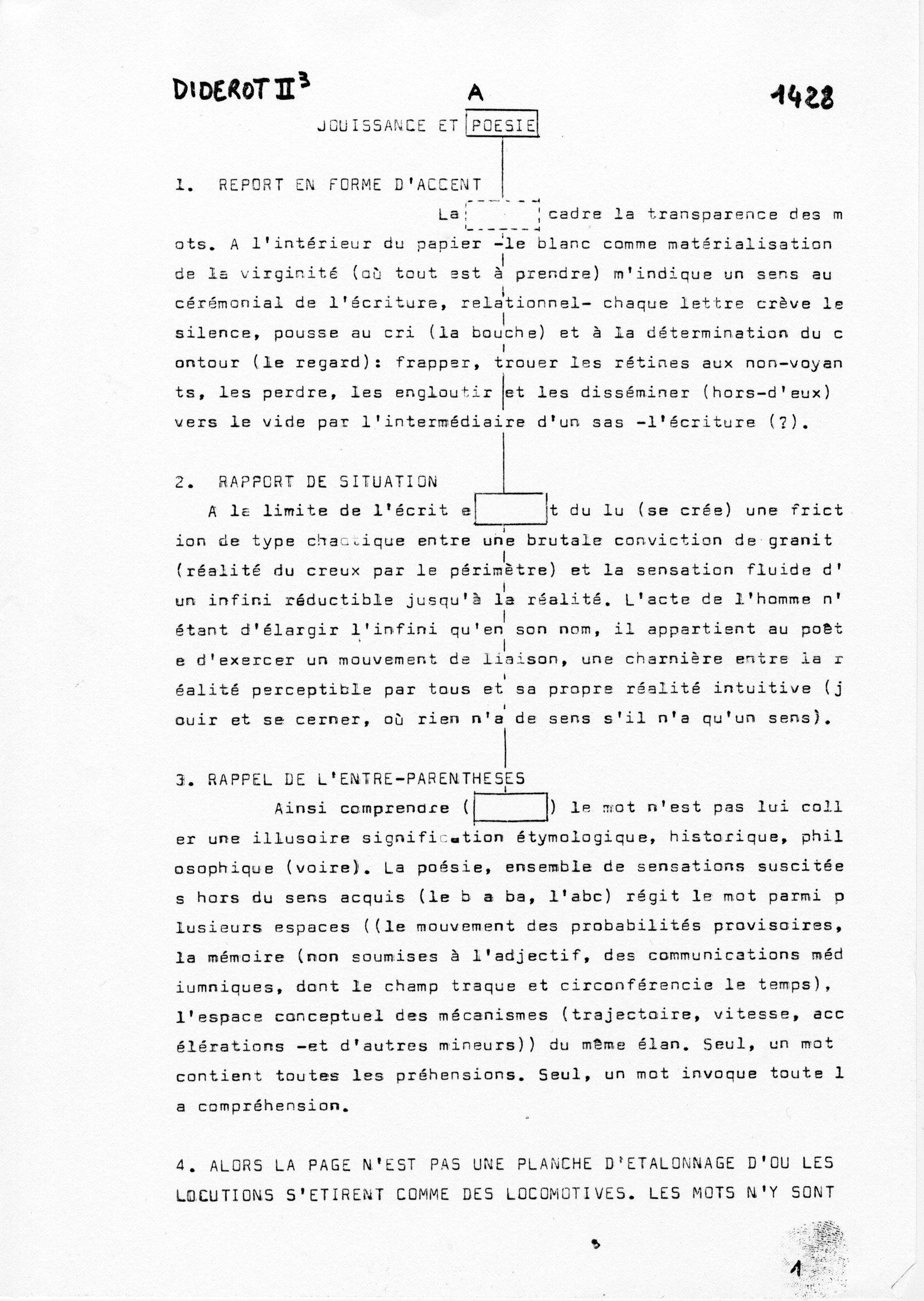 page 1428 Diderot II p3 JOUISSANCE ET POESIE